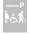 障がい者・高齢者、妊産婦優先駐車場なし